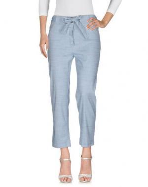 Джинсовые брюки SESSUN. Цвет: синий