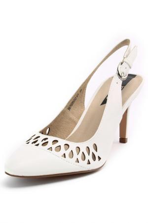 Туфли открытые Betsy. Цвет: белый