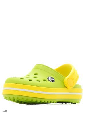 Сабо CROCS. Цвет: светло-зеленый, желтый