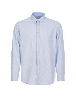 Рубашка Pre End. Цвет: голубой