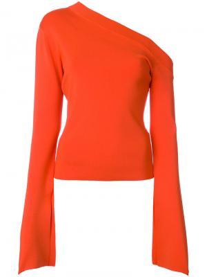 Топ на одно плечо Mariette Solace. Цвет: жёлтый и оранжевый