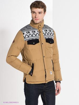 Куртка Bellfield. Цвет: бежевый