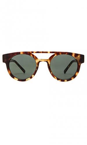 Солнцезащитные очки черепаховый цвет dreyfuss Komono. Цвет: коричневый