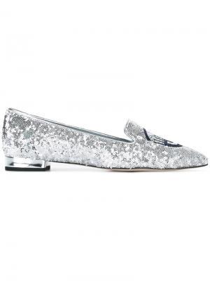 Туфли с пайетками Flirting Chiara Ferragni. Цвет: металлический
