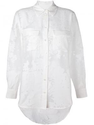 Полупрозрачная жаккардовая рубашка Equipment. Цвет: белый