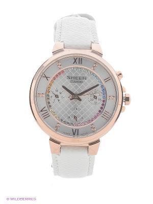 Часы Sheen SHE-3041PGL-7A CASIO. Цвет: белый