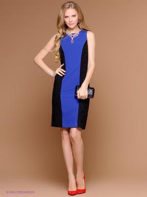 Платье Stets. Цвет: синий, черный