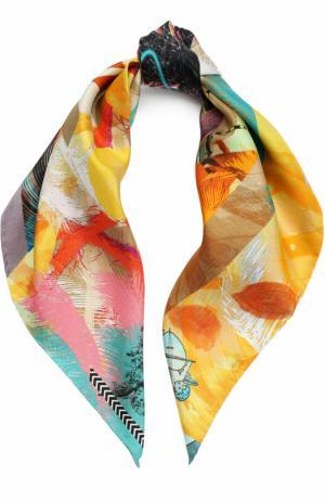 Шелковый платок с принтом Christian Lacroix. Цвет: желтый