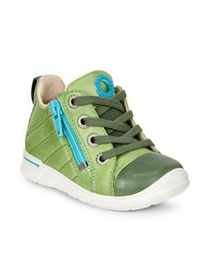 Кроссовки ECCO. Цвет: зеленый
