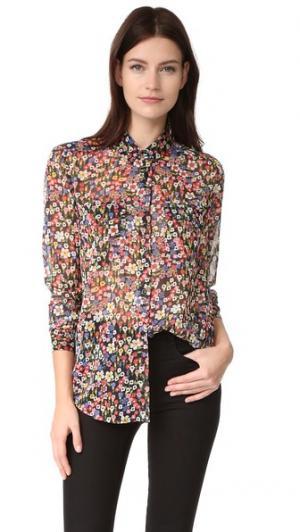 Блуза с цветочным рисунком The Kooples. Цвет: голубой