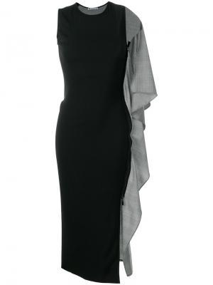Платье-футляр с кейпом Maticevski. Цвет: чёрный