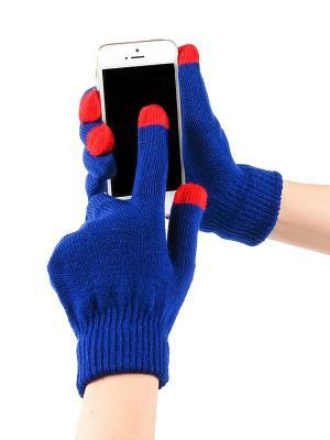Перчатки GREZZO. Цвет: темно-синий