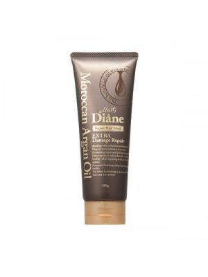 Маска для волос Extra Damage Repair. Глубокое восстановление поврежденных волос. Moist Diane Series. Цвет: коричневый