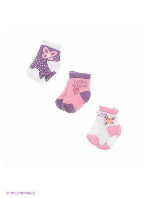 Носки BUONUMARE. Цвет: белый, фиолетовый, розовый