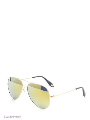 Солнцезащитные очки Mascotte. Цвет: золотистый