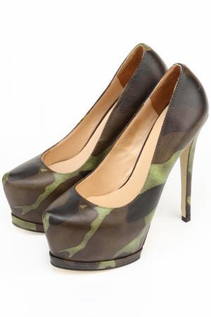Туфли OnlyTa. Цвет: зеленый