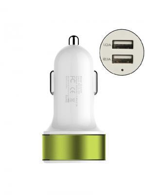 Автомобильное зарядное устройство Pro Legend, 2 USB, 2А Legend. Цвет: белый