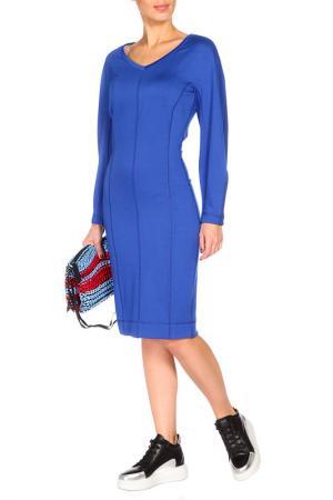 Яркое повседневное платье BGN. Цвет: синий