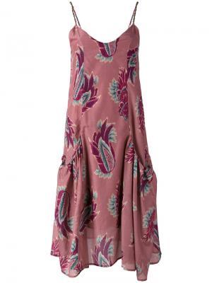 Платье с цветочным принтом Vix. Цвет: розовый и фиолетовый