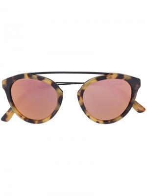 Солнцезащитные очки Flower 13 Westward Leaning. Цвет: розовый и фиолетовый