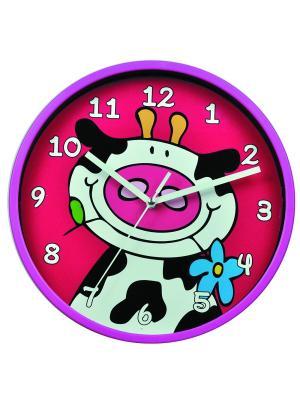 Часы настенные ArteNuevo. Цвет: красный