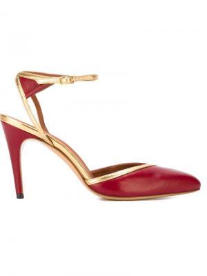 Туфли с ремешком на пряжке Michel Vivien. Цвет: красный