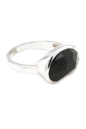 Кольцо Donna Lorena. Цвет: серебристый, черный