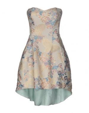 Короткое платье FRANCESCA PICCINI. Цвет: небесно-голубой