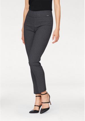 Моделирующие брюки BRUNO BANANI. Цвет: черный/белый