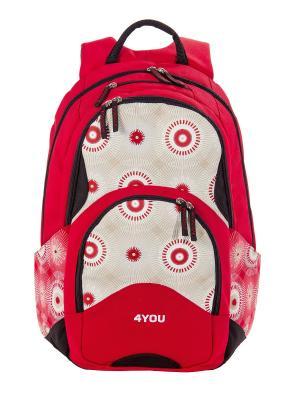 Рюкзак 4YOU FLOW СПОРТИВНЫЙ ХАОС. Цвет: красный, белый