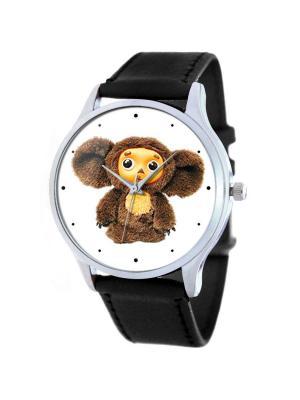 Дизайнерские часы Чебурашка Tina Bolotina. Цвет: черный, коричневый