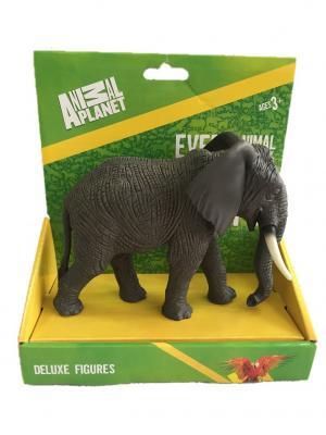 Фигурка Mojo (Animal Planet) в индивидуальной упаковке - Африканский слон (XL). Цвет: темно-серый