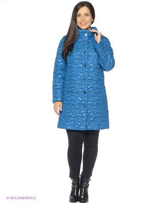 Пальто Brillare. Цвет: голубой