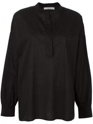 Рубашка со сборками на спине Vince. Цвет: чёрный