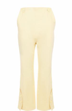 Укороченные расклешенные брюки с завышенной талией Marni. Цвет: желтый