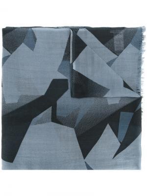 Шарф с геометрическим рисунком Closed. Цвет: синий