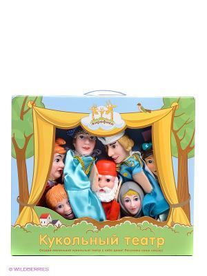 Кукольный театр Морозко Жирафики. Цвет: голубой, бежевый, красный, серый