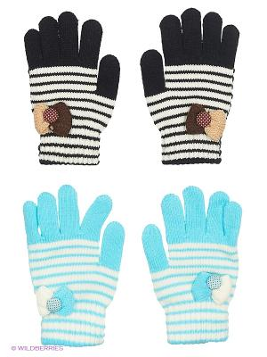 Перчатки FOMAS. Цвет: голубой, черный