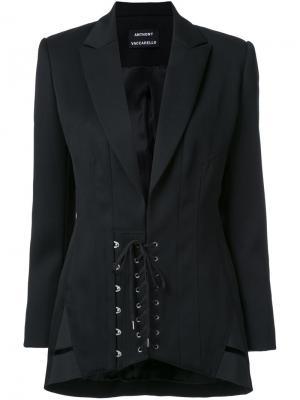 Пиджак со шнуровкой Anthony Vaccarello. Цвет: чёрный