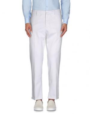 Повседневные брюки THE EDITOR. Цвет: белый