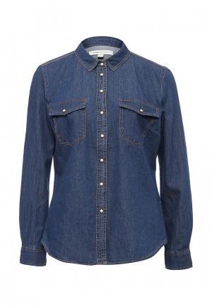 Рубашка джинсовая Cortefiel. Цвет: синий