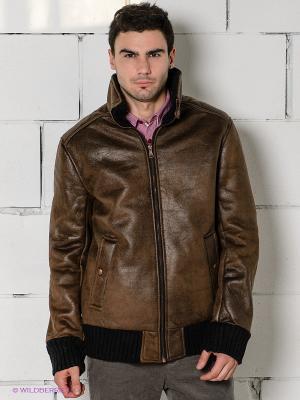 Куртка TOM FARR. Цвет: коричневый, черный
