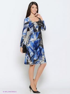 Платье Colambetta. Цвет: черный, синий, белый