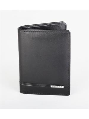 Чехол для кредитных и визитных карт  Classic Century кожа наппа ,фактурная Cross. Цвет: черный