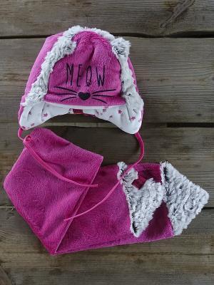 Комплект шапка и  шарф DEMBOHOUSE. Цвет: малиновый