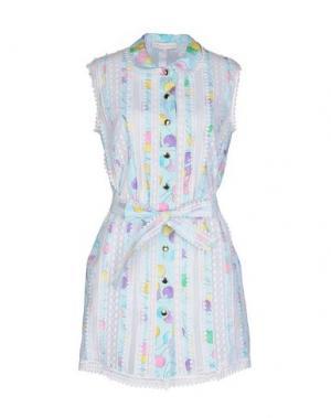 Короткое платье ALEXANDER TEREKHOV. Цвет: небесно-голубой