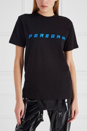 Хлопковая футболка Peregar SUBTERRANEI. Цвет: черный