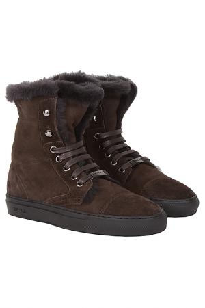 Ботинки Zenux. Цвет: темно-коричневый