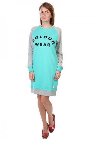 Платье женское  Crew Dress Florida Green Melange CLWR. Цвет: зеленый,серый