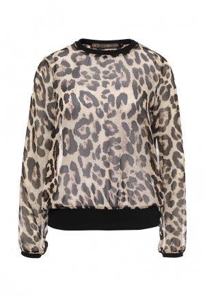 Блуза QED London. Цвет: коричневый